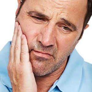 Man with tooth pain